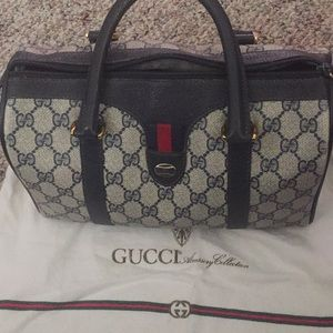 Vintage Gucci GG coated canvas purse